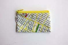 New York Map coin purse zipper pouch. A Souvenir from by efratul