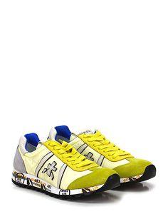 PREMIATA - Sneakers - Donna - Sneaker in tessuto tecnico e camoscio con suola in gomma. Tacco 25. - 1451 CREMALIMONE - € 183.00
