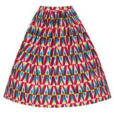 Multi 'Annalise' Full circle skirt | Vintage Inspired Fashion - Lindy Bop