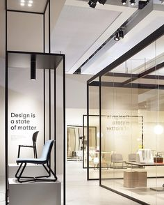@desaltospa  Design is a State of Matter . New collections presented during #MilanDesignWeek through black iron structures and glass walls which define a neutral space where new products are displayed.  #archiproducts #desalto