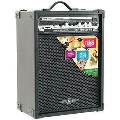 """#musical   #eletronicos   #lojaWCANADA    FRETE GRÁTIS! Caixa Amplificada MF 360 - 60W RMS - Wooder De 10"""" - USB - SD Card e FM Com Controle Remoto - Frahm"""