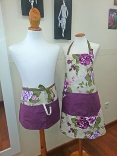 delantal y mandil Sewing Aprons, Sewing Clothes, Applique Templates, Kitchen Aprons, Aprons Vintage, Diy Crafts For Gifts, Couture, Sewing Basics, Bridal Gifts