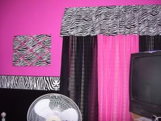 Hot Pink and Zebra Teen Room-UPDATED!