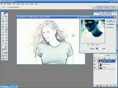 Photoshop Tutorials - Photo To Line Drawing - YouTube