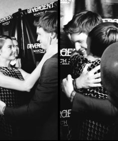 Shailene Woodley and Ansel Elgort - This was the first time they'd see each other since filming TFiOS.