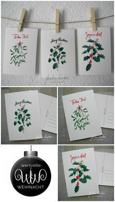 Aquarelle Weihnachten Dawanda, wertvolle Weihnachten, Vintage Dekoration, botanische Illustration