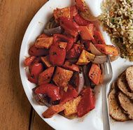 Sweet and Spicy Roasted Vegetable - SO easy and SO delicious!!