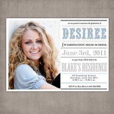 Desiree Custom Senior Graduation by NostalgicImprints on Etsy Graduation Open Houses, High School Graduation, Graduation Cards, Graduation Announcements, Graduation Invitations, Graduation Quotes, Graduation Ideas, Cap College, Graduation Portraits