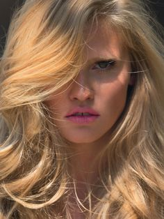 Lara Stone by Hans Feuer for Elle France June 2014