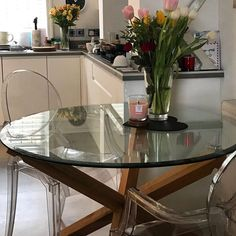 Last call to order this beautiful oak and glass round table for delivery this week! 220 with free delivery within a 10 mile radius. DM or email me to order. Huge thanks to @aliceonthehill for sharing this photo #diningtable #diningroom #colne #cometocolne #furniture #oak #glass Dining Room, Dining Table, Happenings, Free Delivery, Glass, Furniture, Beautiful, Home Decor, Events