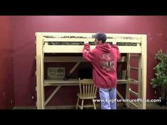 ▶ EZ Living Loft Bed - Easily Make Your Loft Bed without Strain - YouTube