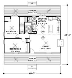 14x40 cabin floor plans   Tiny House   Pinterest   Cabin floor plans ...