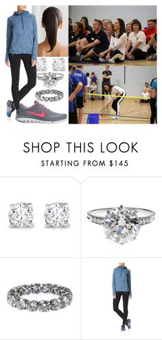 """""""Making a surprise visit to an after-school club in Brussels and participating in a game of tennis with young students"""" by hanaofbelgium ❤ liked on Polyvore featuring Asprey, Boucheron, Sweaty Betty and NIKE"""