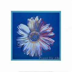 Andy Warhol - Daisy, c.1982 (blue on blue)
