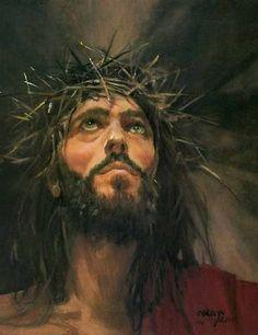 Jesus Christ, King of kings. Jesus Art, My Jesus, Image Jesus, Jesus Crown, Pictures Of Christ, Religious Pictures, Religion, Prophetic Art, Biblical Art