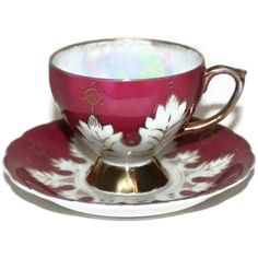 Vintage 30's Teacup by Castle China in Pink