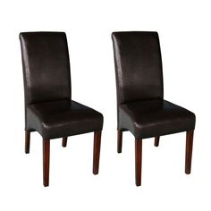 $149.99 The Avalon Dining Chair is a stylish upgraded parson chair with an elegant & stylish look. This faux leather chair is crafted in solid wood and comes with web suspension on the seat for added comfort. A stylish addition for any dining or kitchen table setting.