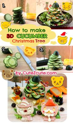 Fun Food for a Party - Cucumber Christmas Tree