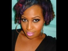 Chalking for natural hair (temp color)...