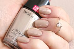 Yo Soy by Wet N Wild. Wears extremely well with the Clear Protector over it. Color is great, as it chips its barely noticeable. Overall excellent value and still within the EWG's safe green range. Wet N Wild Cosmetics, Nude Color, Colour, Nude Nails, Nail Colors, Scale, Nail Polish, Chips, Nail Art
