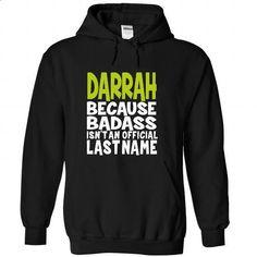 (BadAss) DARRAH - #long tshirt #victoria secret sweatshirt. ORDER NOW => https://www.sunfrog.com/Names/BadAss-DARRAH-roefemfucf-Black-45640914-Hoodie.html?68278