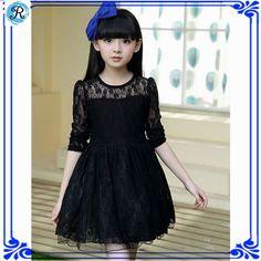 Resultado de imagen para vestido de niña largo con encaje