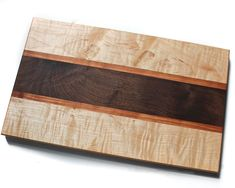 """Handcrafted Cutting Board Dimensions - 16"""" x 10"""" x 7/8""""Wood -Figured Maple, ..."""