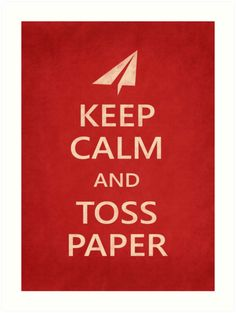 Keep Calm Paper Airplane 21b by YoPedro, prints, t-shirts, stickers...