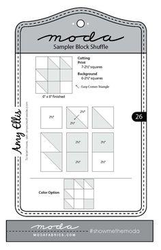 Moda Sampler Block Shuffle {Block 26}