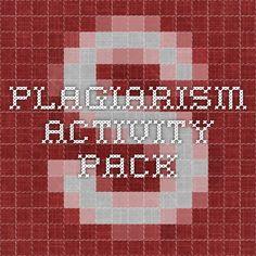 Plagiarism activity pack