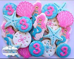 1 Dozen Mermaid Cookies by SugaredHeartsBakery on Etsy, $48.00