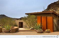17 Parched Desert Landscaping Ideas - Fox Home Design High Desert Landscaping, Modern Landscaping, Landscaping Tips, Garden Landscaping, Landscaping Contractors, Desert Backyard, Contemporary Landscape, Landscape Design, Garden Design