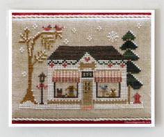 Reserved for Leslie - Pet Store Hometown Holidays Christmas cross stitch pattern by Little House Needleworks at thecottageneedle.com by thecottageneedle