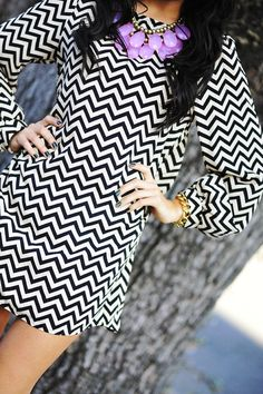 love the black and white with a pop of color!