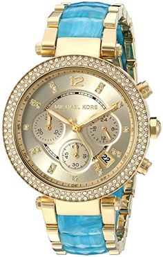 Michael Kors Womens Parker GoldTone Watch MK6364 ** You can find out more details at the link of the image.Note:It is affiliate link to Amazon.