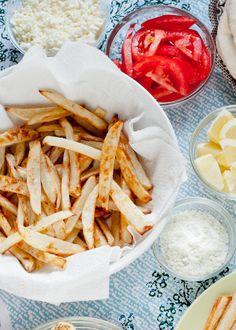 Cafe Johnsonia: On M+T: Baked Fries with Rosemary-Lemon Salt