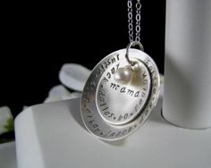 Sterling Silver Hand Stamped MEGA MOM or by StampedByTheHeart, $58.00