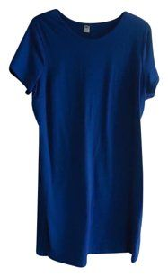 Old Navy short dress Royal Blue Tee Shirt Nwot on Tradesy