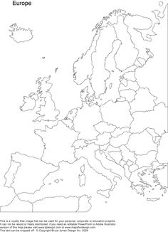 Eastern Europe Printable Blank map, royalty free, country