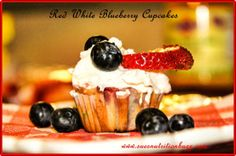 Red White & Blueberry Ricotta Cupcakes