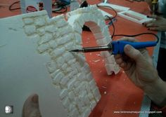 in this Step-by-Step guide, I will explain how to create old brick walls for a miniature Diorama. in this Step-by-Step guide, I will explain how to create old brick walls for a miniature Diorama. Christmas Village Display, Christmas Villages, Christmas Nativity, Christmas Crafts, Old Brick Wall, Brick Walls, Foam Carving, Old Bricks, Model Train Layouts