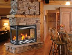 2 sided fire place inserts | ... Inserts - 3-Sided Peninsula, Corner Fireplace Left or Right & 2-Sided