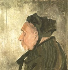 Anton Pieck ~ Bruges lace maid. This portrait dates from the time of collaboration with Felix Timmermans. Oil, 1926, 20 x 20 cm.