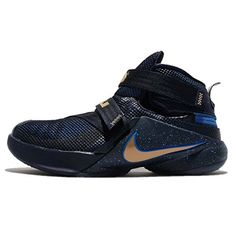 5ea1ae48db5c NIKE Kids Lebron Soldier IX Flyease GS HK ObsidianMetallic GoldFntn BL Youth  Size 7    Read more at the image link. (This is an affiliate link) 0