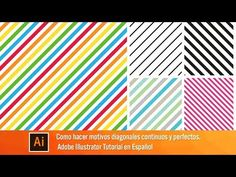 (623) Como crear motivos diagonales perfectas - Illustrator 2018 - YouTube Illustrator Tutorials, Photoshop, Company Logo, Logos, Illustration, Cards, Adobe, Texts, Cursive