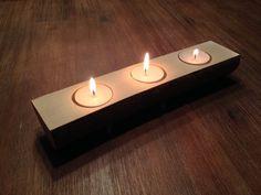 Kerzenständer Baumstamm für 3 Teelichter