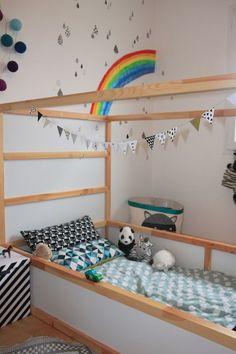Baby Bedroom, Baby Boy Rooms, Kids Bedroom, Floor Bed Ikea, Woodland Bedroom, Kura Bed, New Room, Girl Room, Toddler Bed