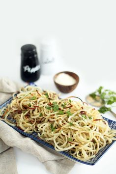 Easy Roasted Garlic-Parmesan Potato Noodles ~ Nutrition Info: Serves 6 ~ per serving: Cal Total Fat 3 g, Chol 1 mg, Sodium 37 mg, Potassium 835 mg, Total Carbs Protein 4 g Potato Noodles, Veggie Noodles, Garlic Parmesan Potatoes, Roasted Garlic, Vegetable Recipes, Vegetarian Recipes, Healthy Recipes, Free Recipes, Kitchen Aid Recipes