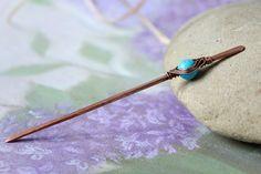 Shawl Pins – Shawl pin or hair pin stick in copper – a unique product by vesnastudio via en.DaWanda.com