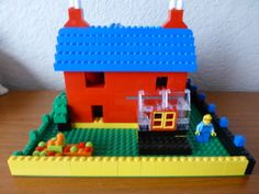 Back of lego house (scratch model) using two 6166 sets